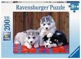 SZCZENIĘTA HUSKY XXL 200 EL Puzzle;Puzzle dla dzieci - Ravensburger
