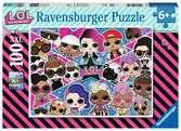 L.O.L. Surprise puzzel van 100 stukjes XXL Puzzels;Puzzels voor kinderen - Ravensburger