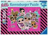 Puzzle 200 p XXL - Girl power / LOL Surprise Puzzle;Puzzles enfants - Ravensburger