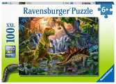 Puzzle 100 p XXL - L oasis des dinosaures Puzzle;Puzzles enfants - Ravensburger