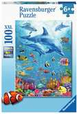 Ravensburger Pod of Dolphins 100 piece Jigsaw Puzzle with Extra Large Pieces for Kids age 6 years and up Puslespill;Barnepuslespill - Ravensburger