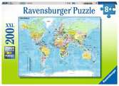 Map of the World          200p Puslespil;Puslespil for børn - Ravensburger
