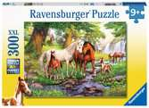 Wildpferde am Fluss Puzzle;Kinderpuzzle - Ravensburger