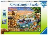 Savannah Jungle Waterhole Jigsaw Puzzles;Children s Puzzles - Ravensburger