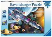Ravensburger Space Mission 100 piece Jigsaw Puzzle with Extra Large Pieces for Kids age 6 years and up Puslespil;Puslespil for børn - Ravensburger