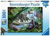 Ravensburger Jungle Families 100 piece Jigsaw Puzzle with Extra Large Pieces for Kids age 6 years and up Puzzles;Children s Puzzles - Ravensburger