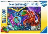 Ravensburger Space Dinosaurs 200 piece Jigsaw Puzzle with Extra Large Pieces for Kids age 8 years and up Puzzles;Children s Puzzles - Ravensburger