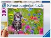 Katze im Blumenmeer Puzzle;Erwachsenenpuzzle - Ravensburger