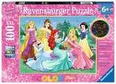 Leuchtende Disney Prinzessinnen Puzzle;Kinderpuzzle - Ravensburger