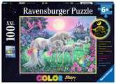 Unicorns in the Moonlight 100p Puslespil;Puslespil for børn - Ravensburger