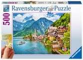 Hallstadt, Austria, Extra Large 500pc Puzzles;Adult Puzzles - Ravensburger