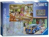 Day with Grandma and Grandpa, 2x500pc Puzzles;Adult Puzzles - Ravensburger