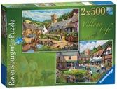 Village Life, 2x500pc Puzzles;Adult Puzzles - Ravensburger