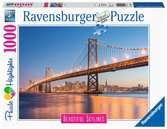 Beautiful Skylines - Oakland Bay Bridge, 1000pc Puzzles;Adult Puzzles - Ravensburger