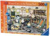 Crazy Cats in the Potting Shed, 500pc Puzzles;Adult Puzzles - Ravensburger