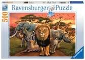 AFRYKAŃSKI PEJZAŻ 500EL. Puzzle;Puzzle dla dzieci - Ravensburger