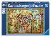 Puzzle 500 p - Famille Disney Puzzle;Puzzle adulte - Ravensburger