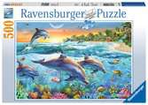DELFINY PUZZLE 500 EL. Puzzle;Puzzle dla dzieci - Ravensburger