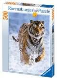 Puzzle 500 p - Tigre dans la neige Puzzle;Puzzle adulte - Ravensburger