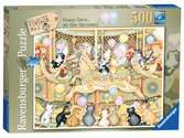 Vintage No.1, Crazy Cats on the Carousel, 500pc Puzzles;Adult Puzzles - Ravensburger