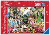 Puzzle 500 p - Le train de Noël Disney Puzzle;Puzzle adulte - Ravensburger