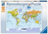 Political World Map Puslespil;Puslespil for voksne - Ravensburger