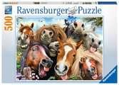 KOŃSKIE SELFIE 500 EL Puzzle;Puzzle dla dzieci - Ravensburger