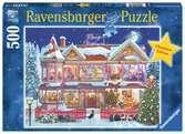 Kersthuis Puzzels;Puzzels voor volwassenen - Ravensburger