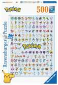 Puzzle 500 p - Pokédex première génération / Pokémon Puzzle;Puzzle adulte - Ravensburger