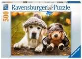 Hund mit Mütze Puzzle;Erwachsenenpuzzle - Ravensburger