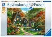 DOMEK WIEJSKI JESIENIĄ 500EL Puzzle;Puzzle dla dzieci - Ravensburger