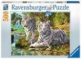 Witte roofkatten Puzzels;Puzzels voor volwassenen - Ravensburger