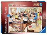 Happy Days at Work, The Waitress, 500pc Puzzles;Adult Puzzles - Ravensburger