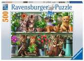 Cats on the Shelf, 500pc Puslespil;Puslespil for voksne - Ravensburger