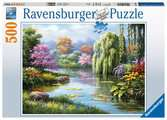 Romantic Pond View, 500pc Puslespil;Puslespil for voksne - Ravensburger