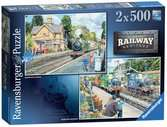 Railway Heritage No. 2, 2x500pc Puzzles;Adult Puzzles - Ravensburger