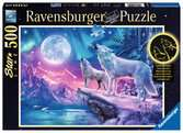 Wolf im Nordlicht Puzzle;Erwachsenenpuzzle - Ravensburger