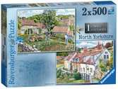 Cosy Cottages -North Yorkshire, 2x500pc Puzzles;Adult Puzzles - Ravensburger
