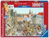 Fleroux - München, cities of the world Puzzels;Puzzels voor volwassenen - Ravensburger