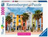 Mediterranean Collection - Alicante, Villajoyosa, 1000pc Pussel;Vuxenpussel - Ravensburger