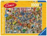 Comic puzzle - The auction Puslespil;Puslespil for voksne - Ravensburger