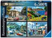 Happy Days No.1, Look North! 4x500pc Puzzles;Adult Puzzles - Ravensburger
