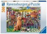 Cute Dogs in the Garden, 500pc Puslespil;Puslespil for voksne - Ravensburger