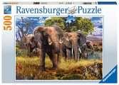 Rodina slonů 500 dílků 2D Puzzle;Puzzle pro dospělé - Ravensburger