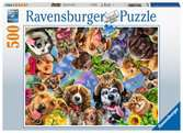 Ravensburger Selfies Animal Selfie 500 piece Jigsaw Puzzle for Adults & for Kids Age 10 and Up Puslespil;Puslespil for voksne - Ravensburger