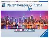 Puzzle 1000 p - Les lumières de Manhattan (Panorama) Puzzle;Puzzle adulte - Ravensburger
