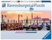 Gondolas in Venice Panoramic, 1000pc Puslespil;Puslespil for voksne - Ravensburger