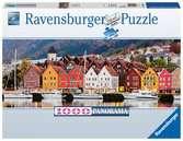 Bergen in Norwegen Puslespil;Puslespil for voksne - Ravensburger