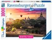 Hot Air Balloons over Myanmar, 1000pc Puslespil;Puslespil for voksne - Ravensburger