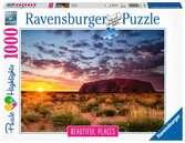 Ayers rock, Australia     1000p Puslespil;Puslespil for voksne - Ravensburger